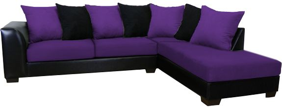 Sectional Sofa W/Chaise Shown In U0027Bulldozeru0027 Eggplant $699.00 Also  Available In Black