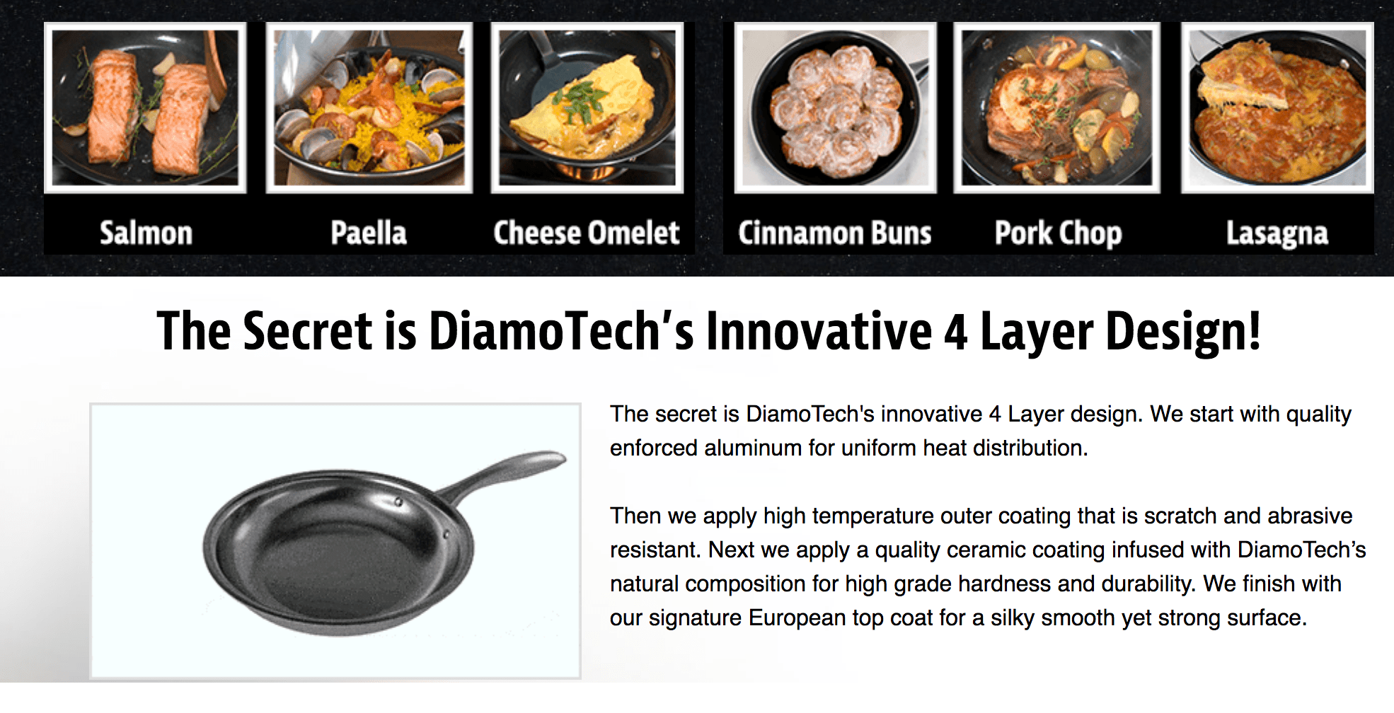 Diamotech Pan Reviews Cinnamon Buns See On Tv Dollar Stores