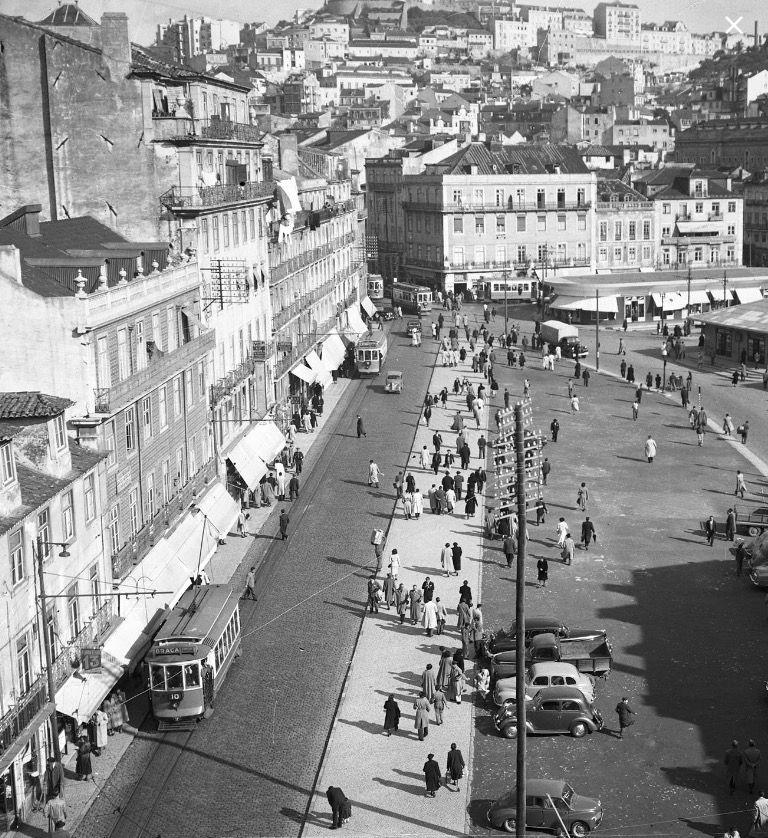 Antiga Rua da Palma e Largo do Martim Moniz, 1952, Lisboa