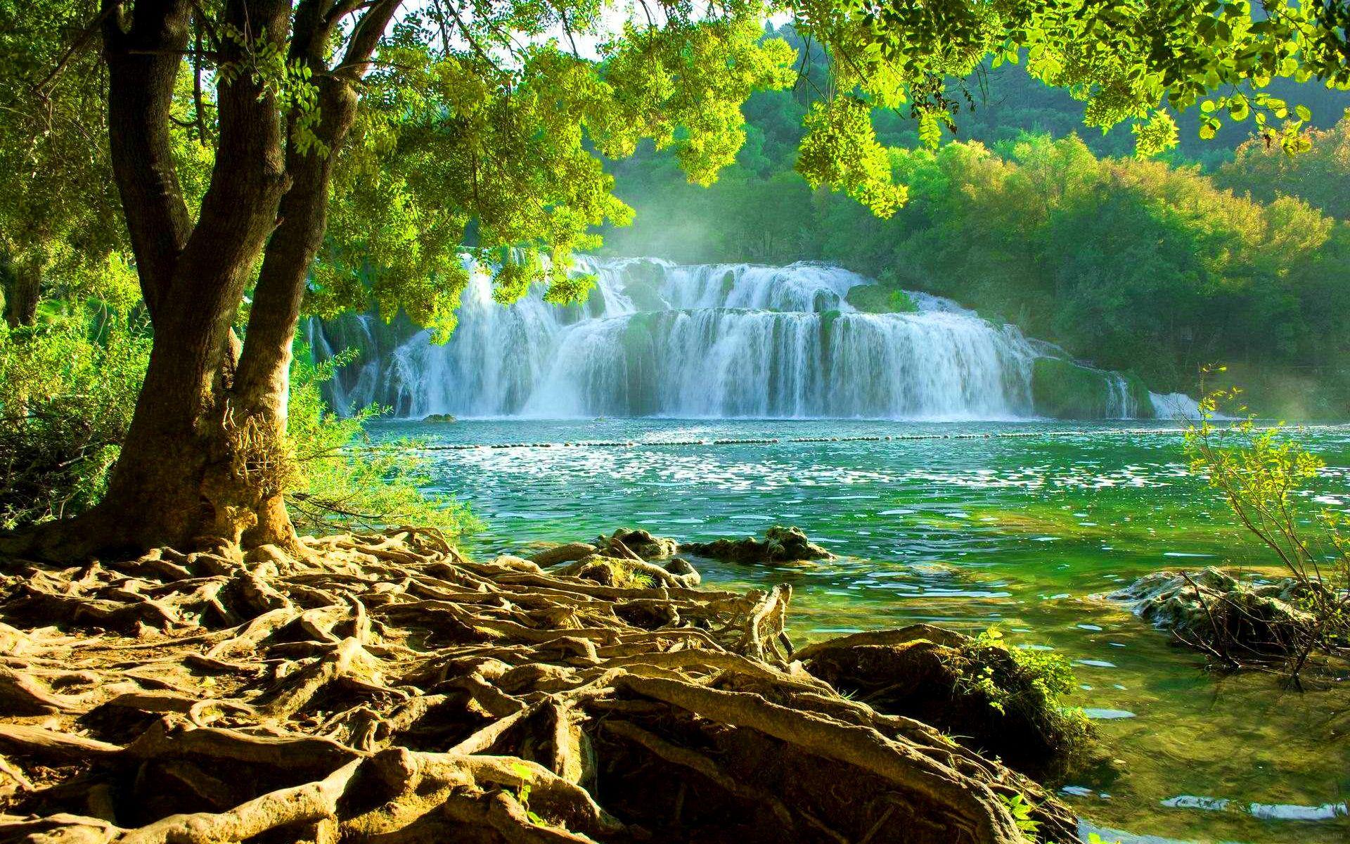 National Park Krka Croatia Wide Desktop Background