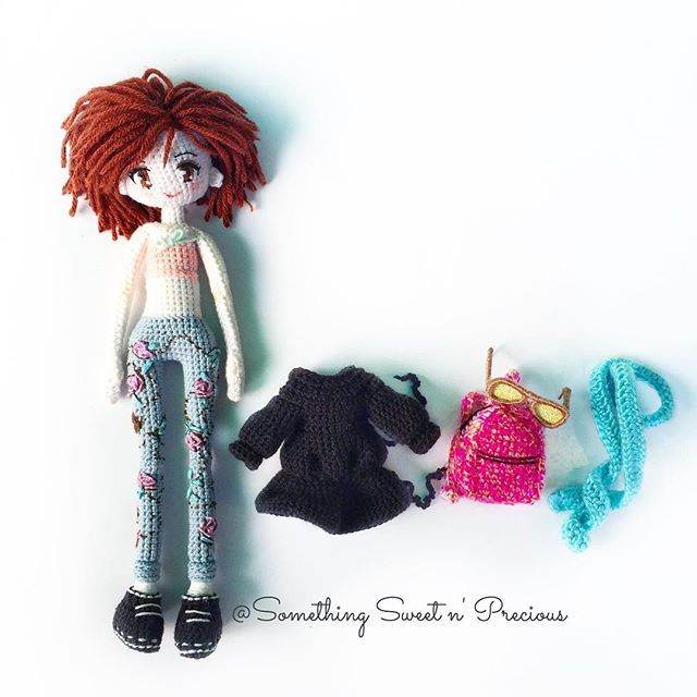 The clothes and accessories for Julie~ ❤ #Amigurumi #dolloutfit ...