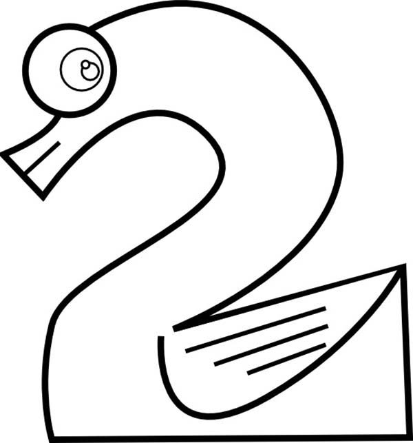 Learn Number 2 Coloring Page For Kids  Bulk Color Learn Number 2 Coloring Page For Kids  Bulk Color