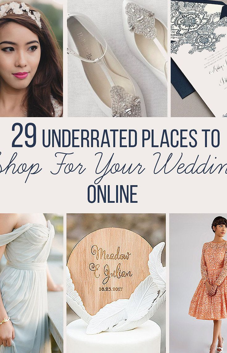 29 Places To Shop For Your Wedding Online That You'll Wish You Knew About Sooner is part of Wedding - For when you've exhausted Etsy and ModCloth