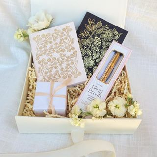 Engagement gift box bling brush rifle paper engaged shower loved and found box custom and curated gift boxes for her him holidays weddings and corporate bespoke gifting services negle Image collections