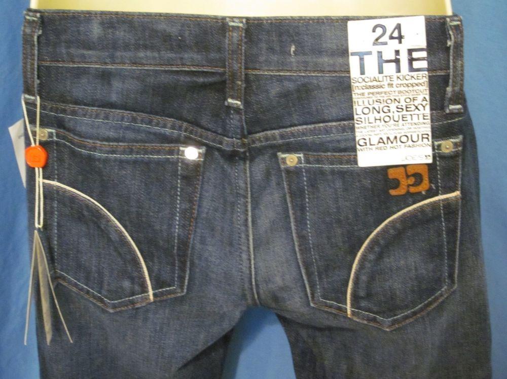 8f582c0f Joes Womens 24 Blue Jeans Socialite Kicker Classic Fit Cropped Bootcut  Capri 29