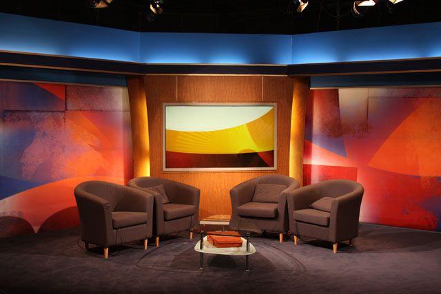 Image result for talk show set