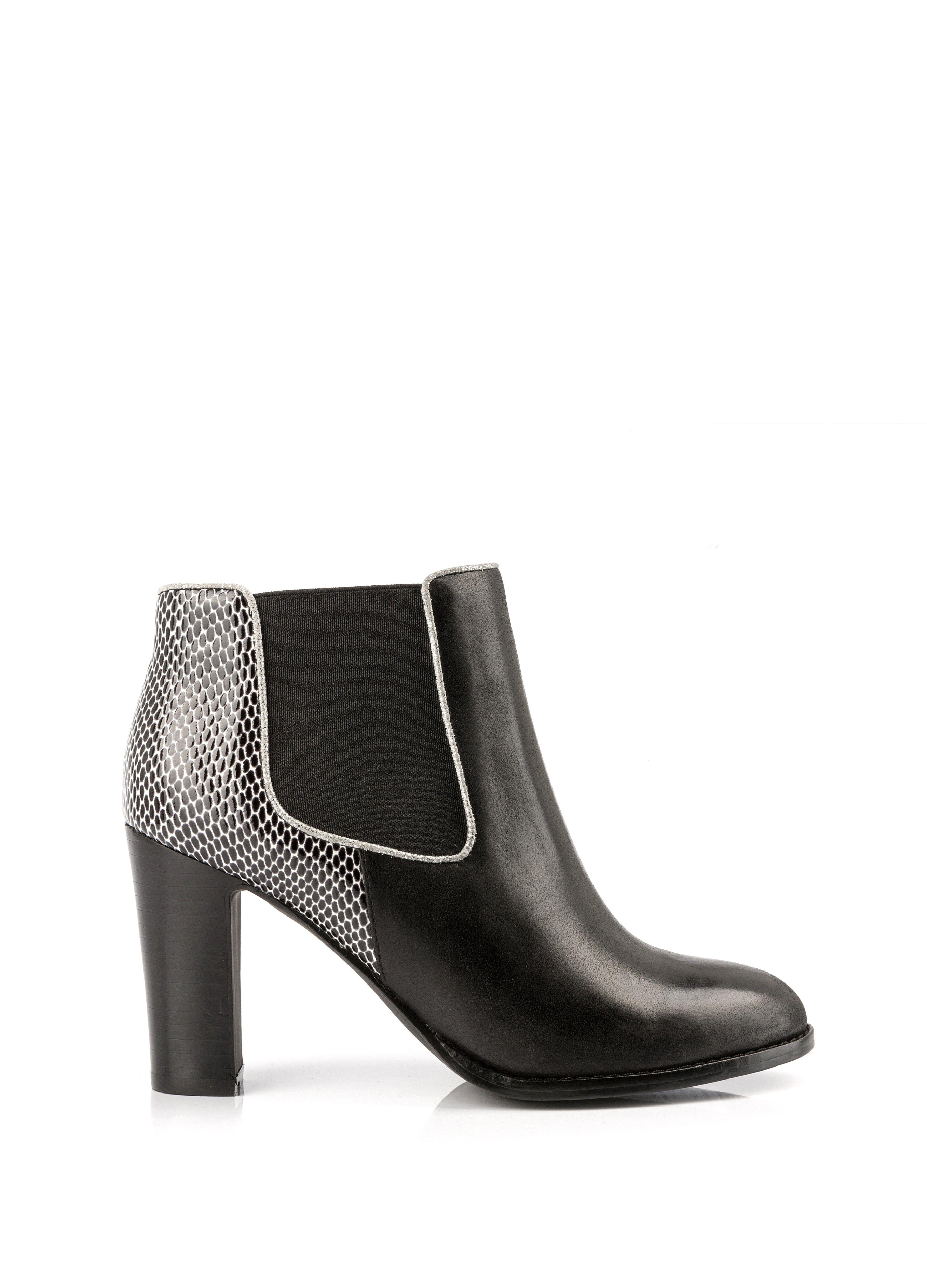 bottine à talon tazia noir - chaussures femme - femme mellow