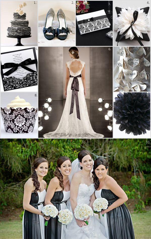 What Is More Stunning Than A Clic Black And White Wedding Such An Elegant Sophisticated Theme Weddings Work For All Seasons