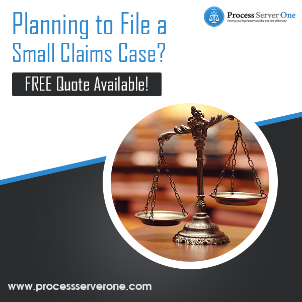 File a Small Claims Case Process server, Server, Process