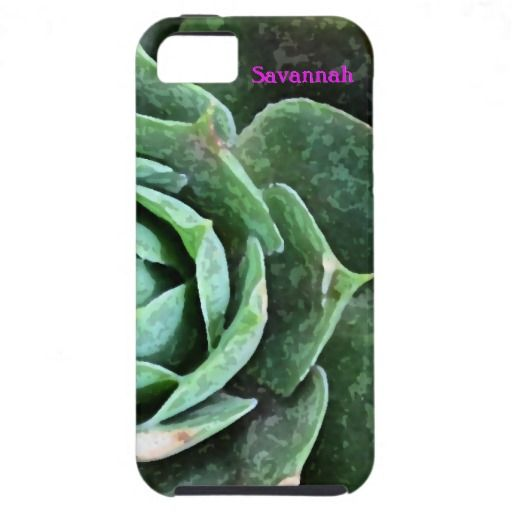 Rose Succulent personalized Iphone 5 iPhone 5 Cover