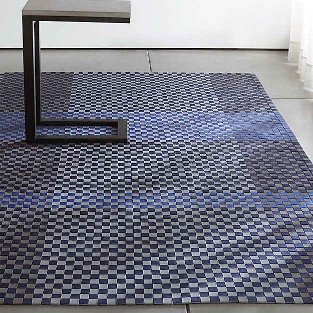 Allta Blue Indoor/Outdoor Rug | Crate and Barrel | Sunroom furniture ...