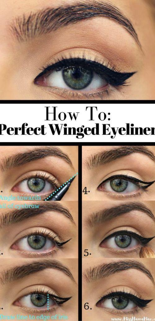 10 einfache eyeliner tutorials f r anf nger anfanger. Black Bedroom Furniture Sets. Home Design Ideas