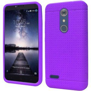 ZTE Zmax Pro Carry Z981 Silicone Case - Purple Ultra Thin Rugged 1