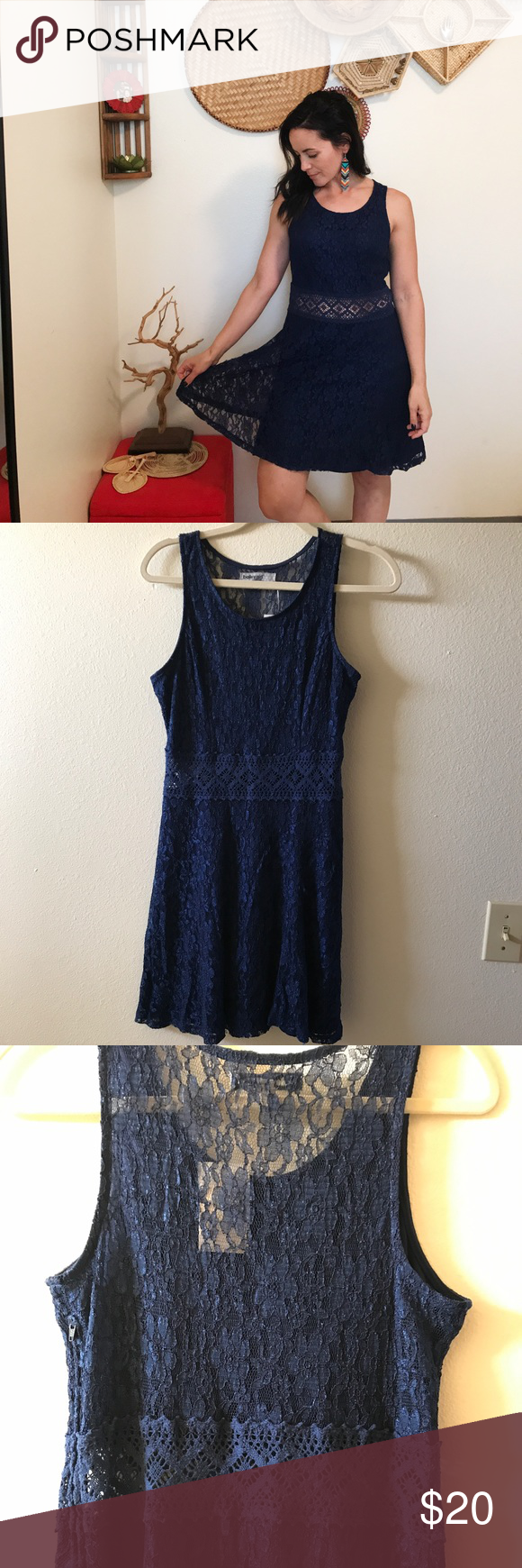Bailey Blue Daina Lace Dress This Navy Fit And Flare Dress
