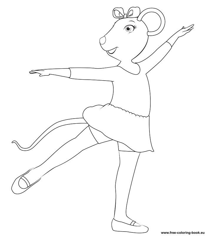 Coloring Pages Angelina Ballerina Printable Coloring Pages Online Ballerina Coloring Pages Angelina Ballerina Ballerina Printable