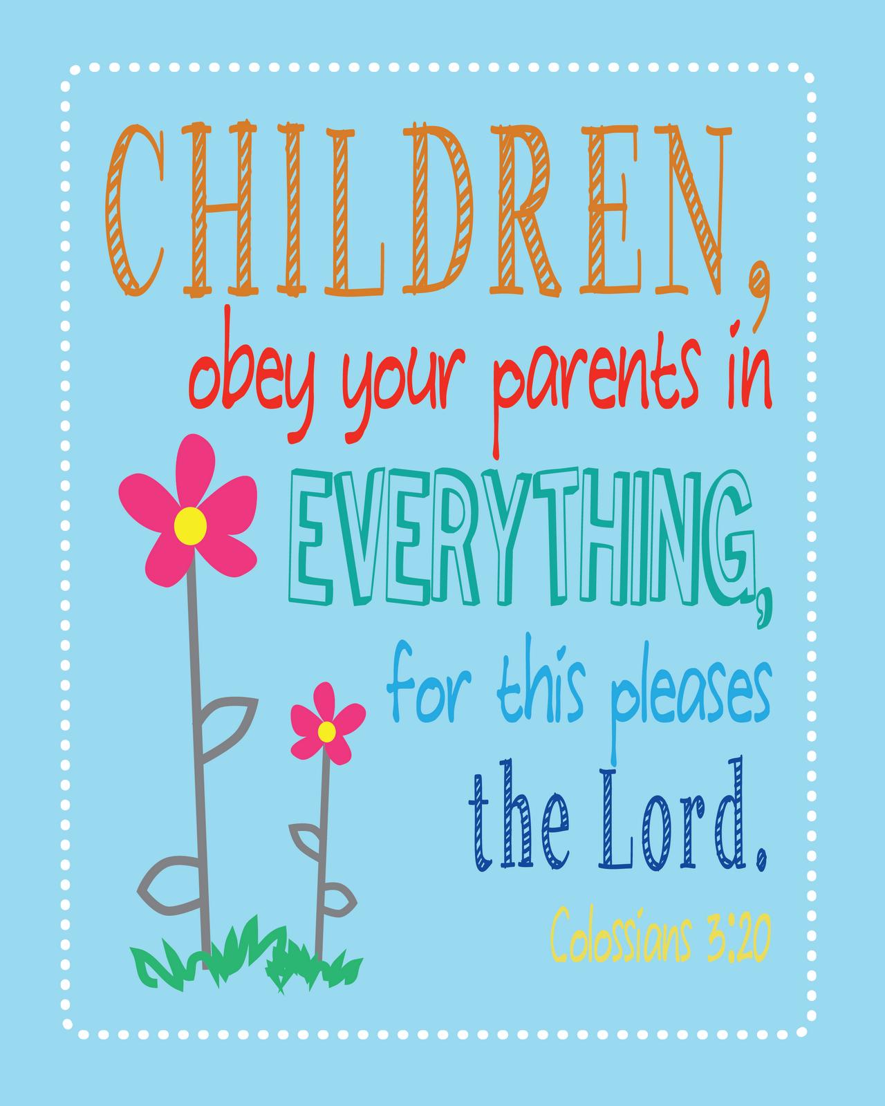 children obey your parents lesson