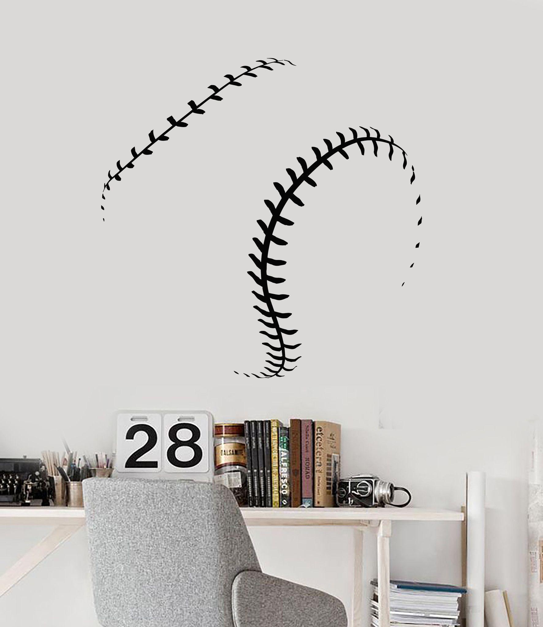 Vinyl Wall Decal Baseball Ball Fan Decor Boys Man Gift Stickers Ig4765