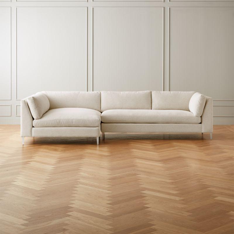 Surprising Decker 2 Piece Snow Sectional Sofa Living Room In 2019 Machost Co Dining Chair Design Ideas Machostcouk