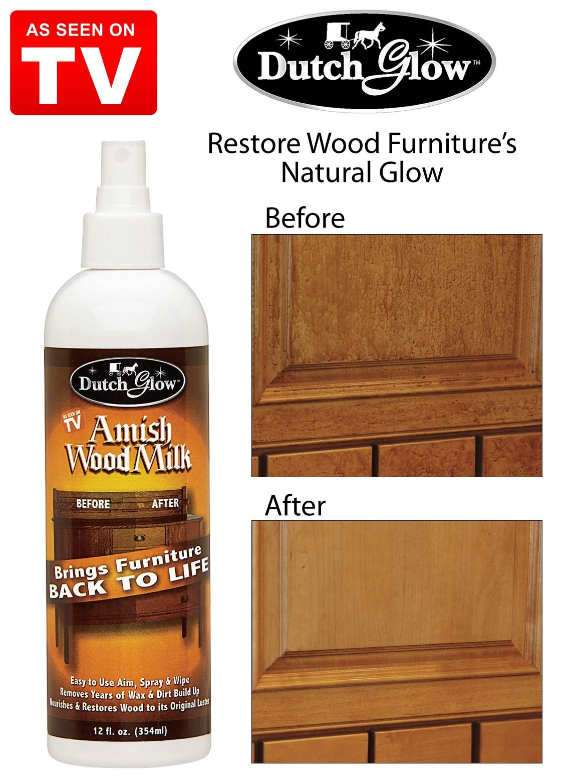 Dutch Glow As Seen On Tv Amish Wood Milk See On Tv Restore Wood Furniture