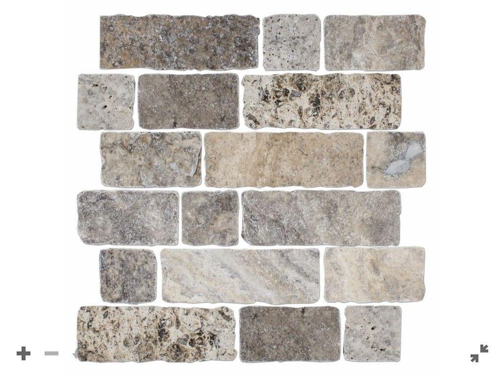 - CLAROS SILVER BROKEN BRICK 12 X 12 IN $ 15.99 Sq Ft Coverage 10.10 Sq Ft  Per Box Brick Tile Backsplash, Stone Tile Flooring, Travertine Mosaic  Tiles