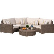 Cannes 5 Piece Seating Group with Cushions