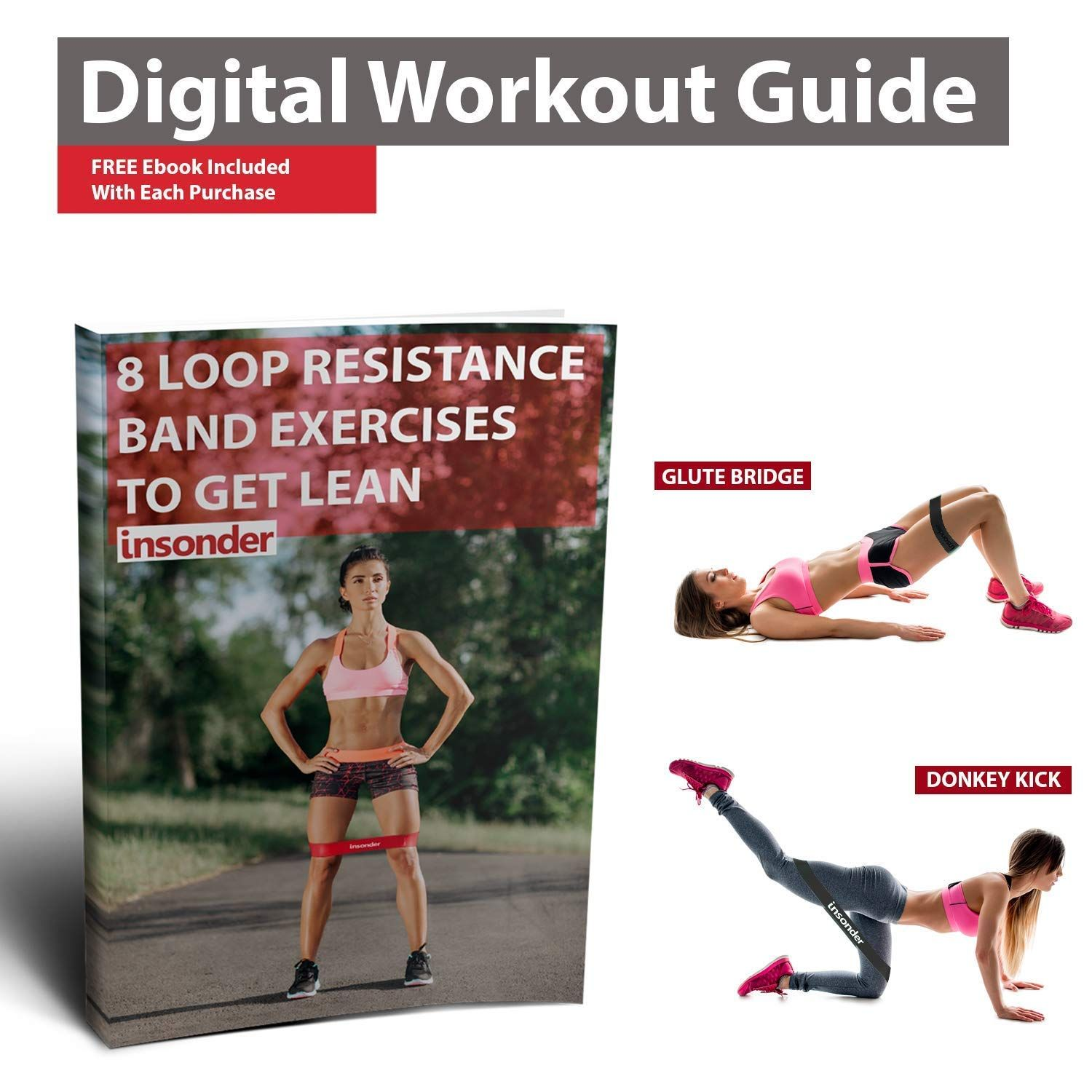 Insonder Loop Resistance Bands Elastique fitness, Squat