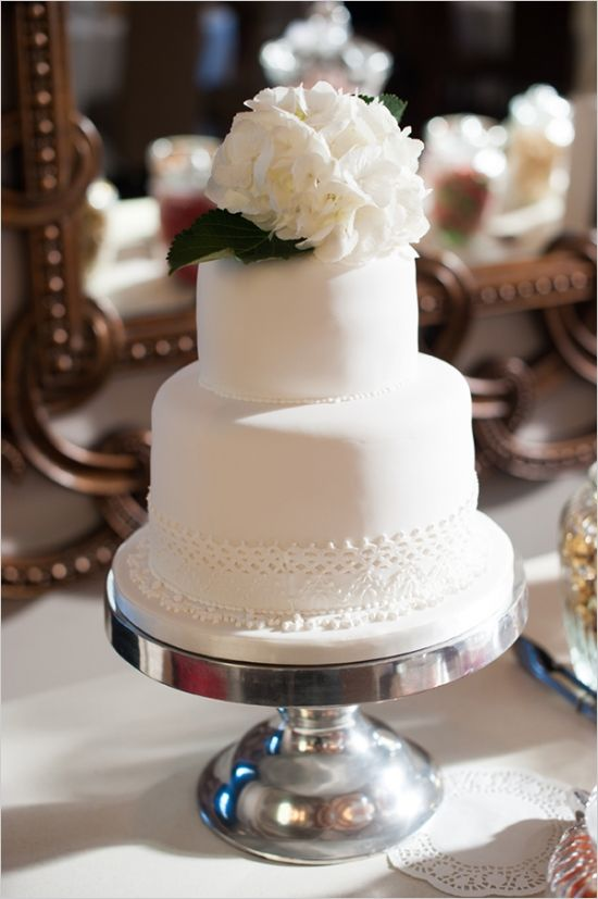 white wedding cake by Sherral Ross