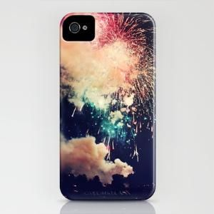 Bursts of light. iPhone Case
