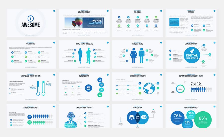 60+ Beautiful, Premium PowerPoint Presentation Templates Work