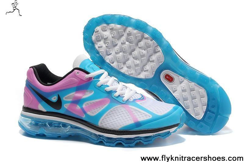 Nike Air Max 2012 Blanc Bleu Rose