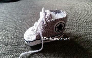Haakpatroon Converse Babyschoentjes Haakinformatie Haakprojecten