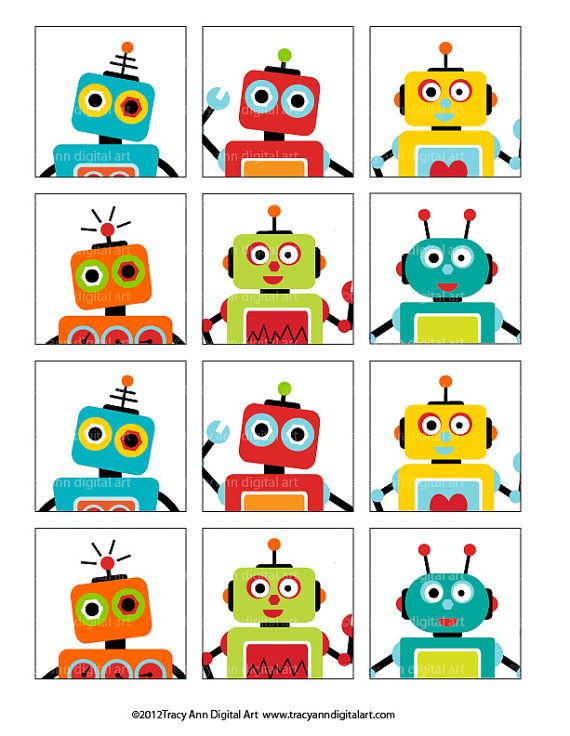 It's just an image of Robot Printable for cute