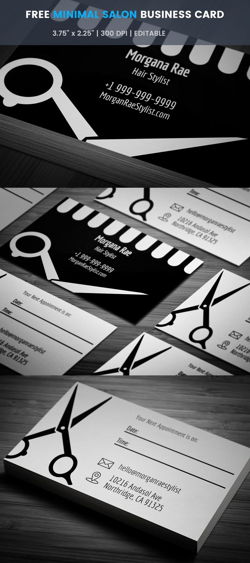 Salon Business Card With Appointment Full Preview Hairstylist Business Cards Templates Hairstylist Business Cards Stylist Business Cards Hair stylist business card template