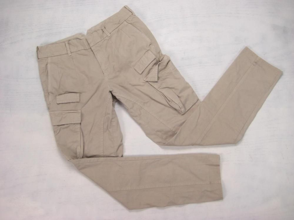 NEIL BARRETT beige SLIM COTTON TWILL CARGO PANTS (48) 32/33 x 32 Italy #NeilBarrett #Cargo