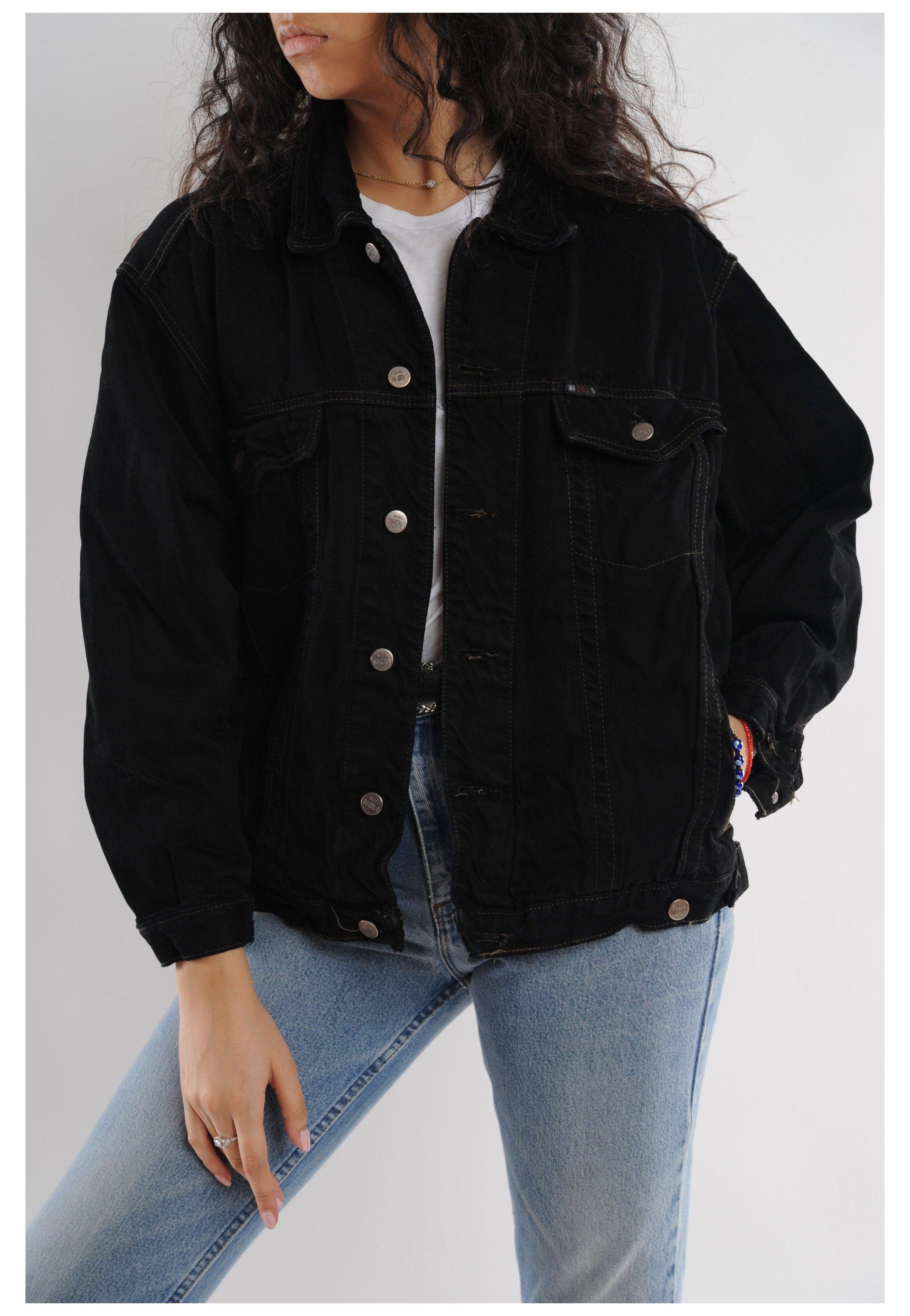 Black Denim Jacket Black Denim Jacket Black Denim Jacket Black Denim Jacket Outfit Black Denim Jacket Trendy Jackets [ 4339 x 3000 Pixel ]