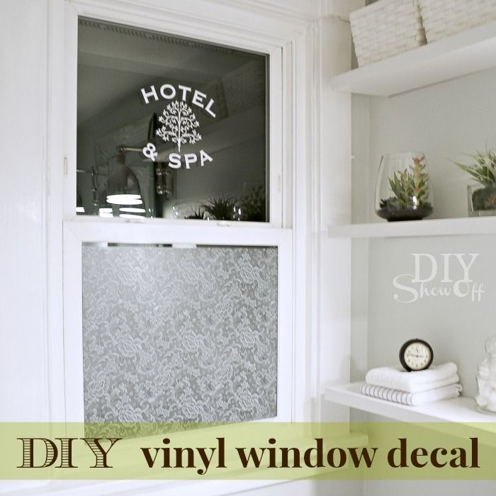 DIY Show Off Vinyls Lace And Home - How to make vinyl decals for windows