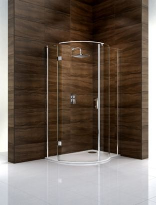 Cooke & Lewis Cascata (W)1200mm Right Handed P-Shaped Shower Enclosure & Tray Pack, 0000004086468
