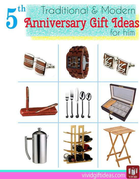 5th Wedding Anniversary Gift Ideas For Him Anniversary Gift Ideas