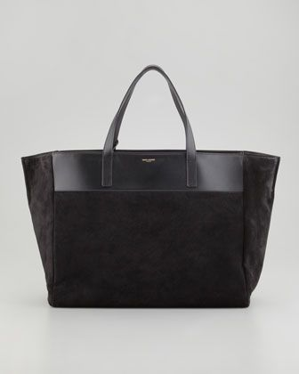 67afc75ba0605 Reversible Leather Suede East-West Tote Bag