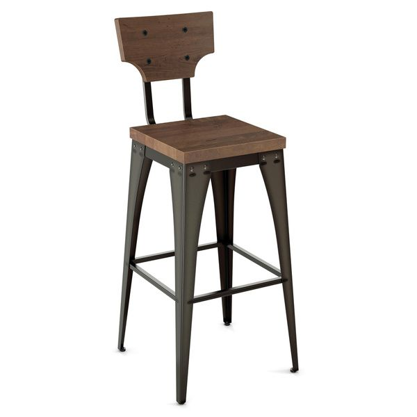 Astonishing Amisco Station Metal And Wood Counter Stool Overstock 286 Dailytribune Chair Design For Home Dailytribuneorg