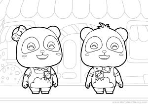 Baby Bus Coloring Pages Drawing For Kids Coloring Baby Bus Kiki For Toddlers Super Kiki And Miu Miu From Desenho De Crianca Coruja Desenho Kakashi Desenho