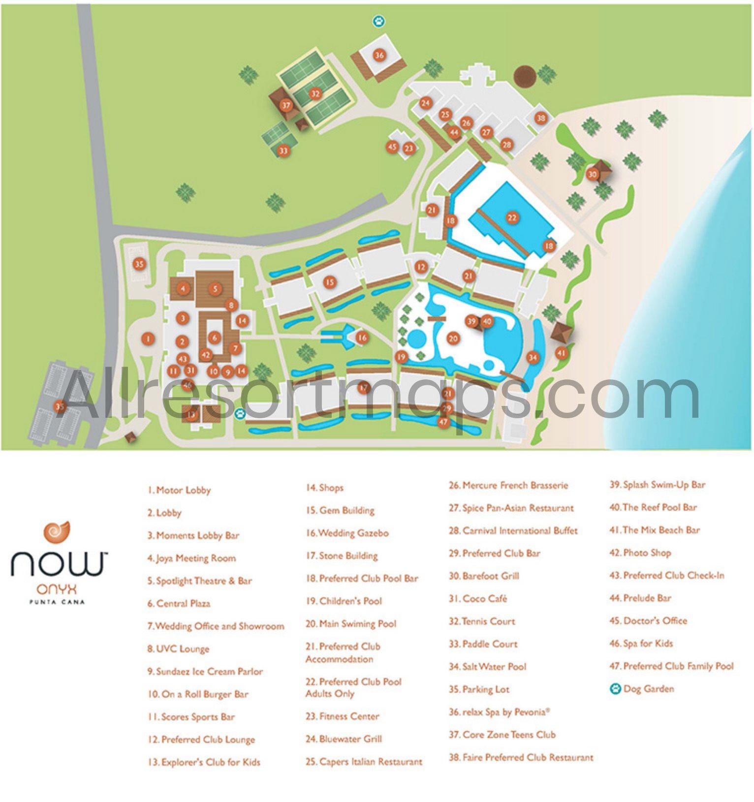 Now Onyx Punta Cana Map Now Onyx Punta Cana Punta Cana Map Punta Cana Resort Map