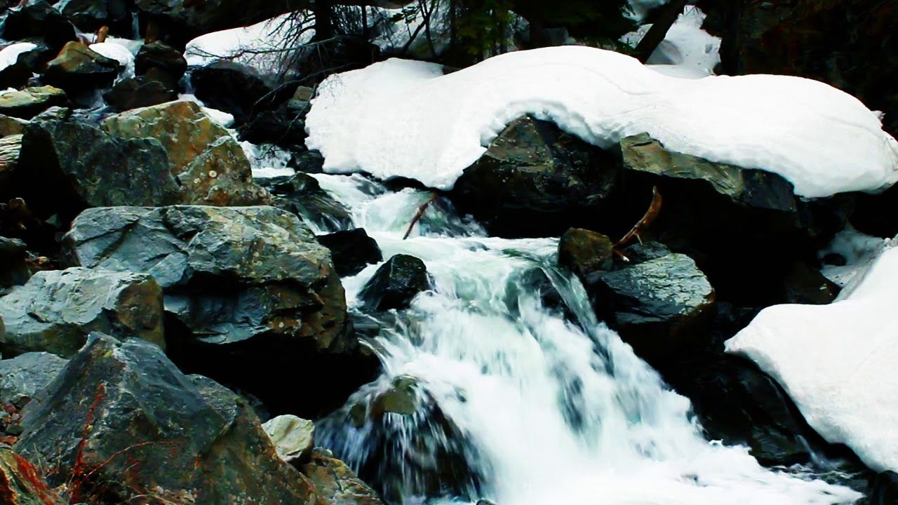 Winter Waterfall Beautiful Relaxing Forest River Waterfall Nature