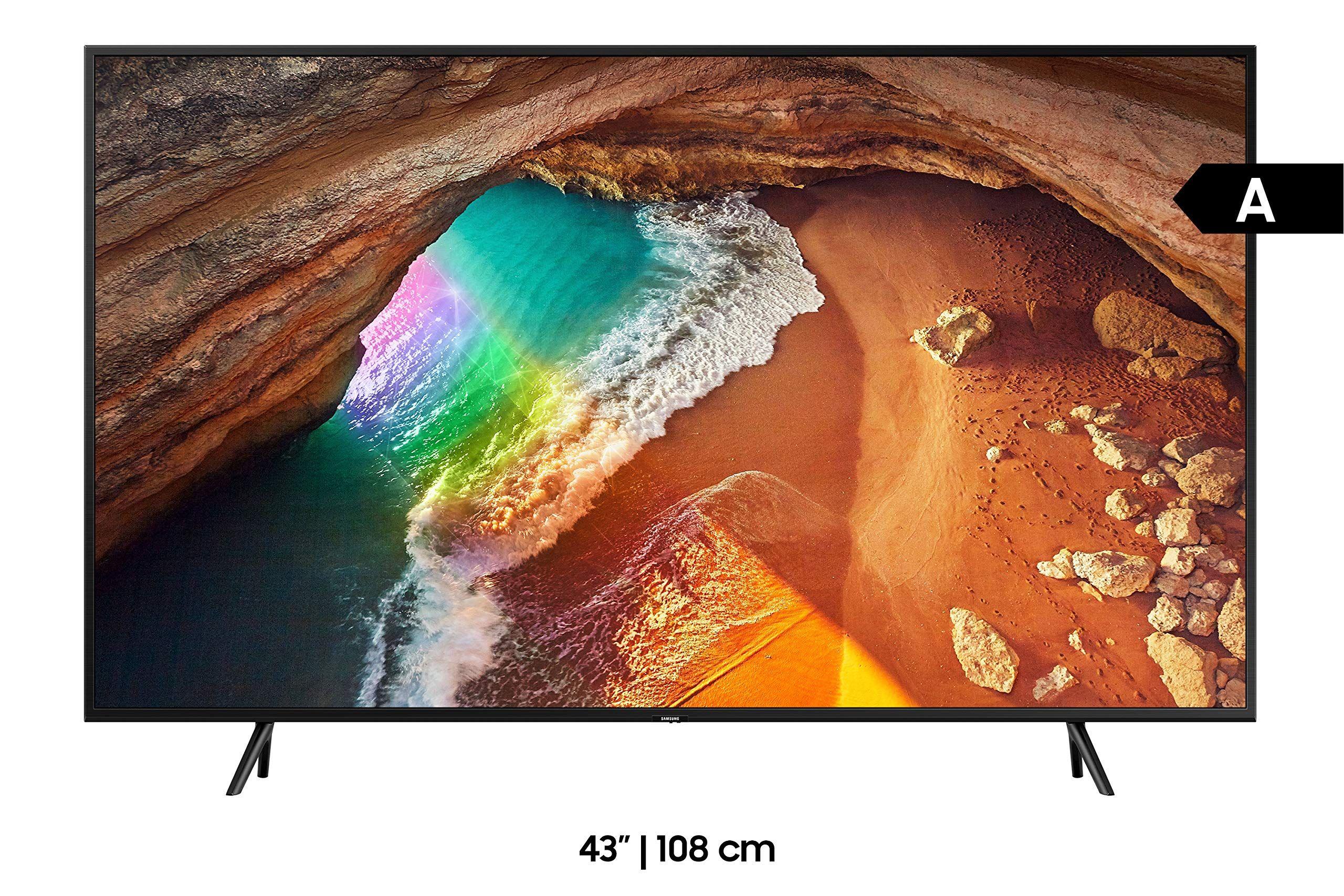 Samsung Q60r 108 Cm 43 Zoll 4k Qled Fernseher Q Hdr Ultra Hd Hdr Twin Tuner Smart Tv Modelljahr 2019 In 2020 Fernseher Smart Tv Samsung Standherd