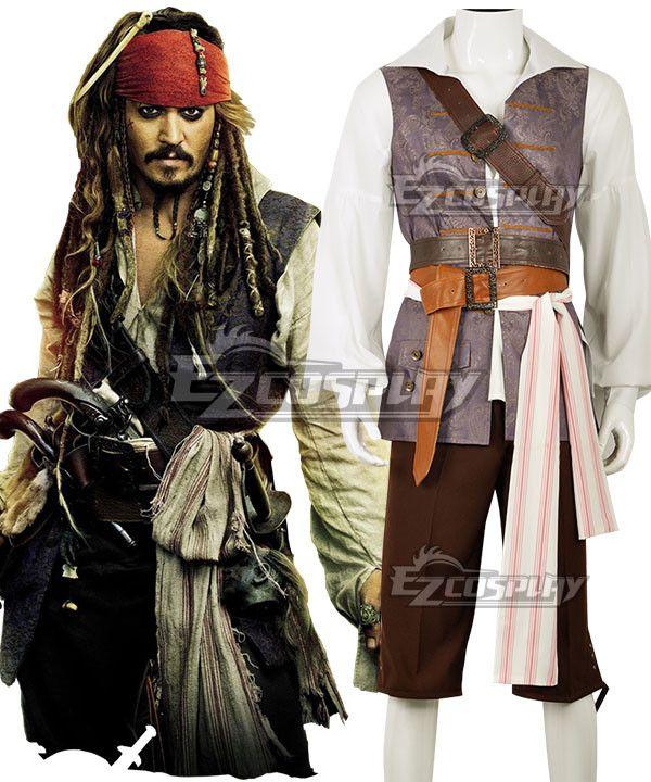 Dead Mans Chest Pirate Captain Deluxe Halloween Fancy Dress Costume Adult Mens