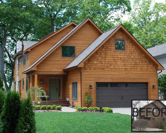 Best Before After Renovation Cedar Siding Garage 400 x 300