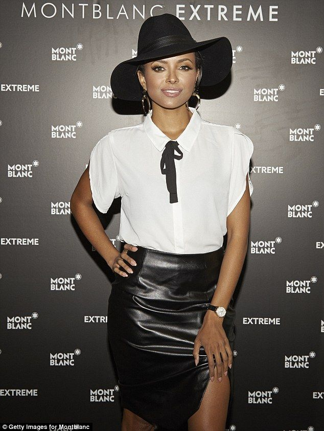 Hello autumn: Kat Graham, 25, attended Montblanc's re-opening of their location in Atlanta...