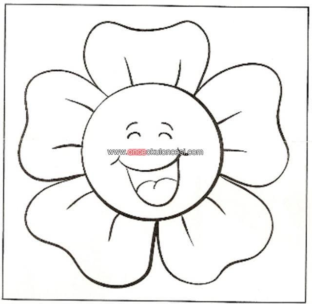 çiçek Kalıbı Boyama Sayfaları El Emeği Flowers Fabric Flowers