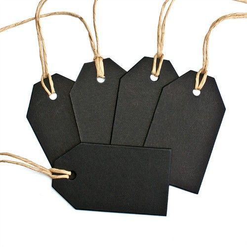 Geschenkanhänger, schwarz, 6,5 x 3,8 cm - im miomodo Online-Shop kaufen! www.miomodo.de