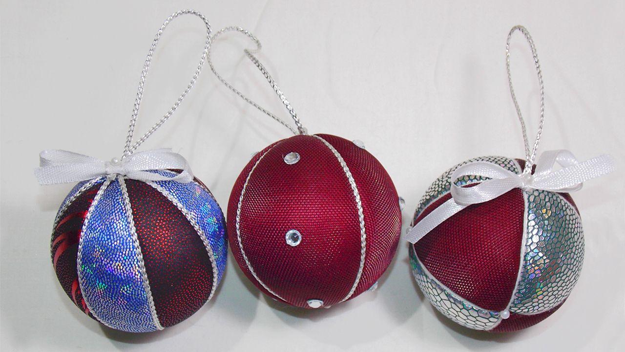 Новогодние шары из ткани своими руками фото 366